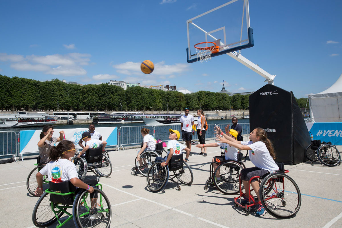 Basket fauteuil - Journée Olympique 2017 - Mairie de Paris / COJO Paris 2024