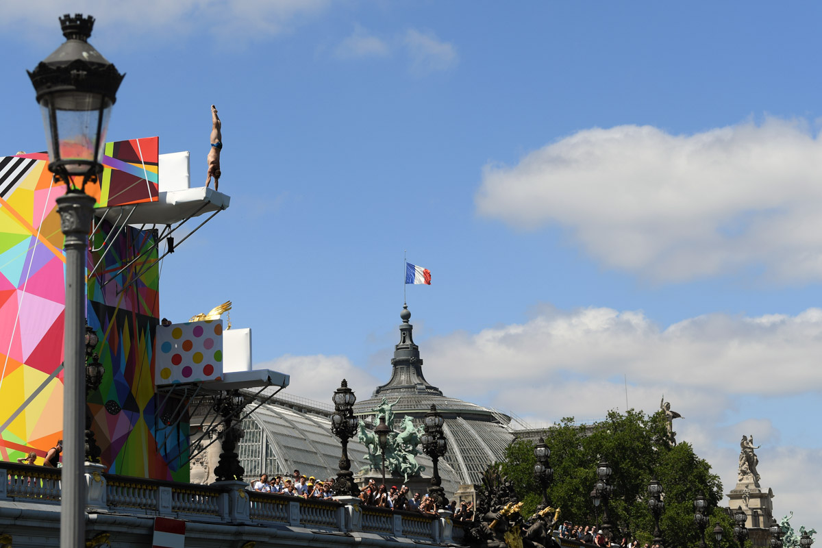 Plongeon - Journée Olympique 2017 - Mairie de Paris / COJO Paris 2024